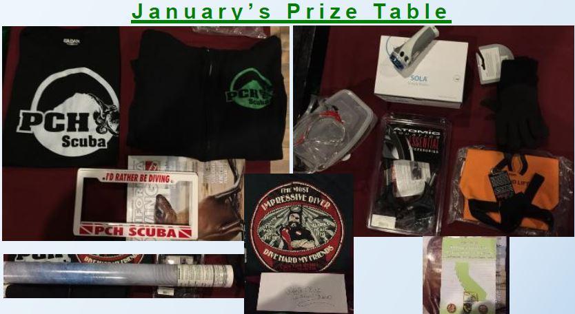 Raffle winners and prizes