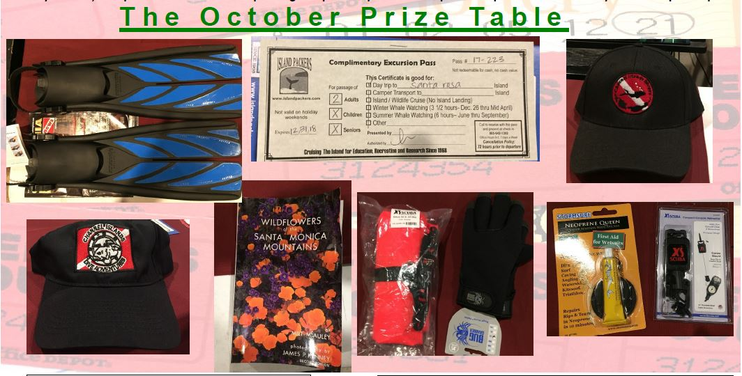 Raffle winners and prizes